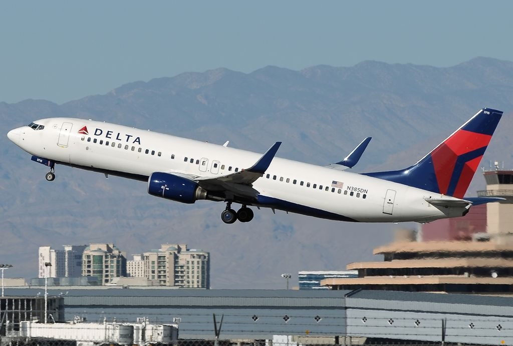 Boeing 737-832 N385DN Delta Air Lines Fleet at Las Vegas McCarran Int'l Airport - KLAS, USA - Nevada