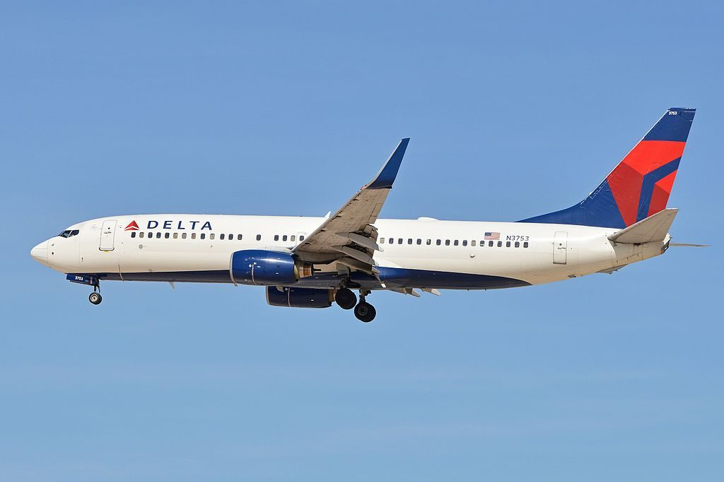Boeing 737-832(w) 'N3753' Delta Air Lines arriving on flight DAL1683 from Salt Lake City. McCarran International Airport, Las Vegas