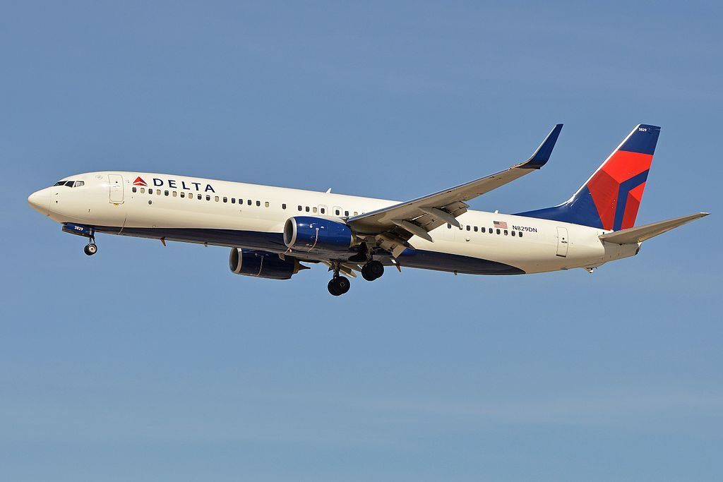 Boeing 737-932w 'N829DN' Delta Air Lines c:n 31941, l:n 5143 arriving on flight DAL1402 from Atlanta. McCarran International Airport, Las Vegas, NV, USA