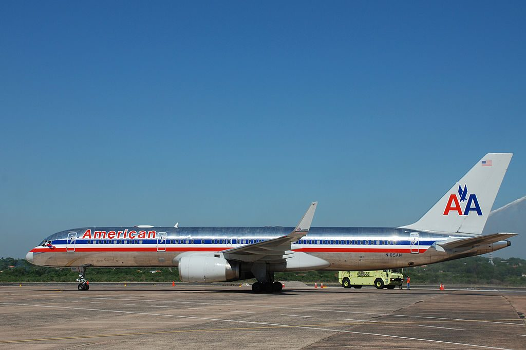 Boeing 757-200 (American Airlines) volvió a Paraguay