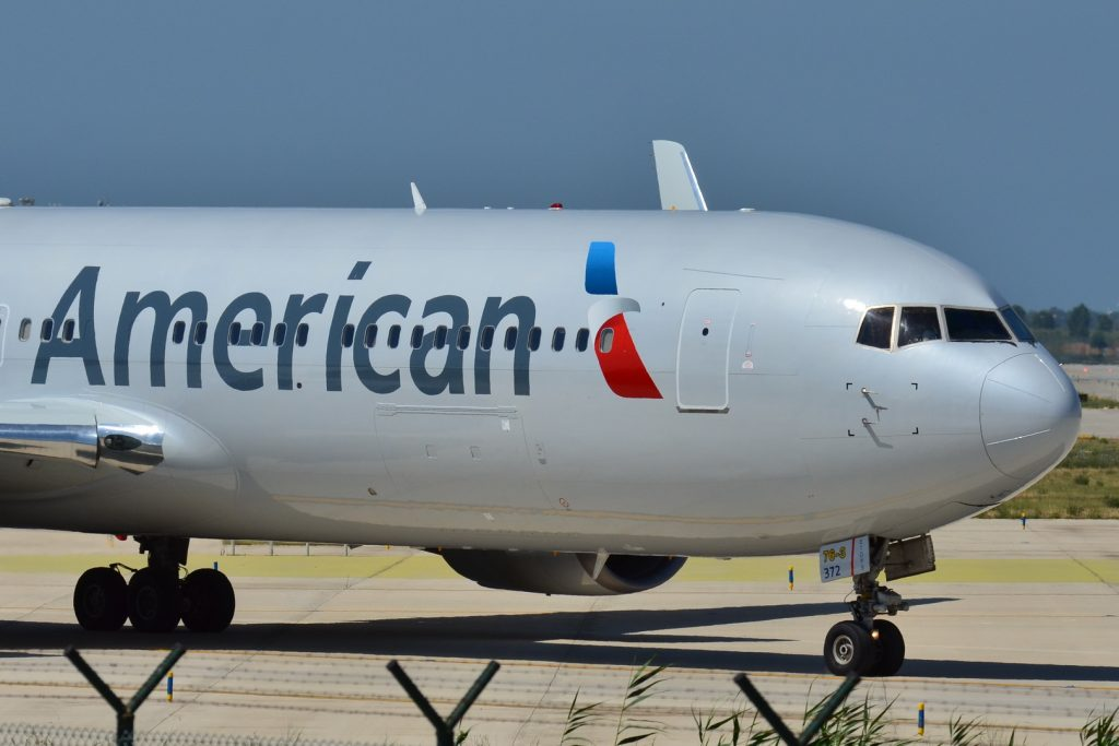 Boeing 767-300 American Airlines (AAL) N372AA at Barcelona-El Prat Airport (LEBL) in Spain