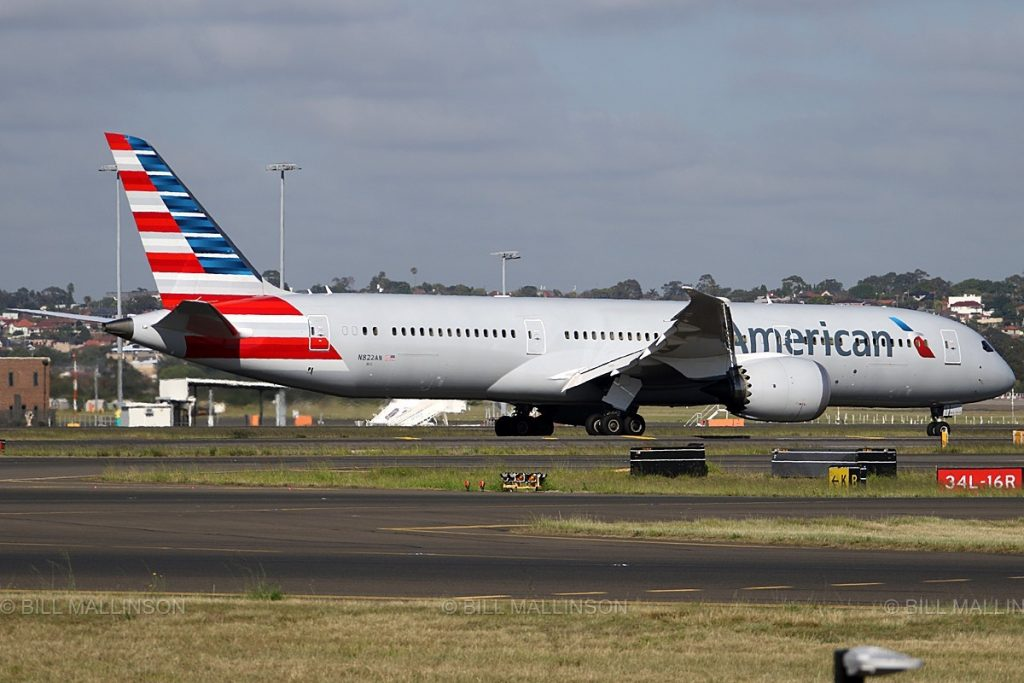 Boeing 787-9 Dreamliner (N822AN) American Airlines Long Range Wide Body Aircraft