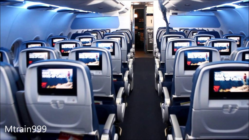Delta Air Lines Airbus A319-100 Comfort+ Cabin 3-3 Seats Layout