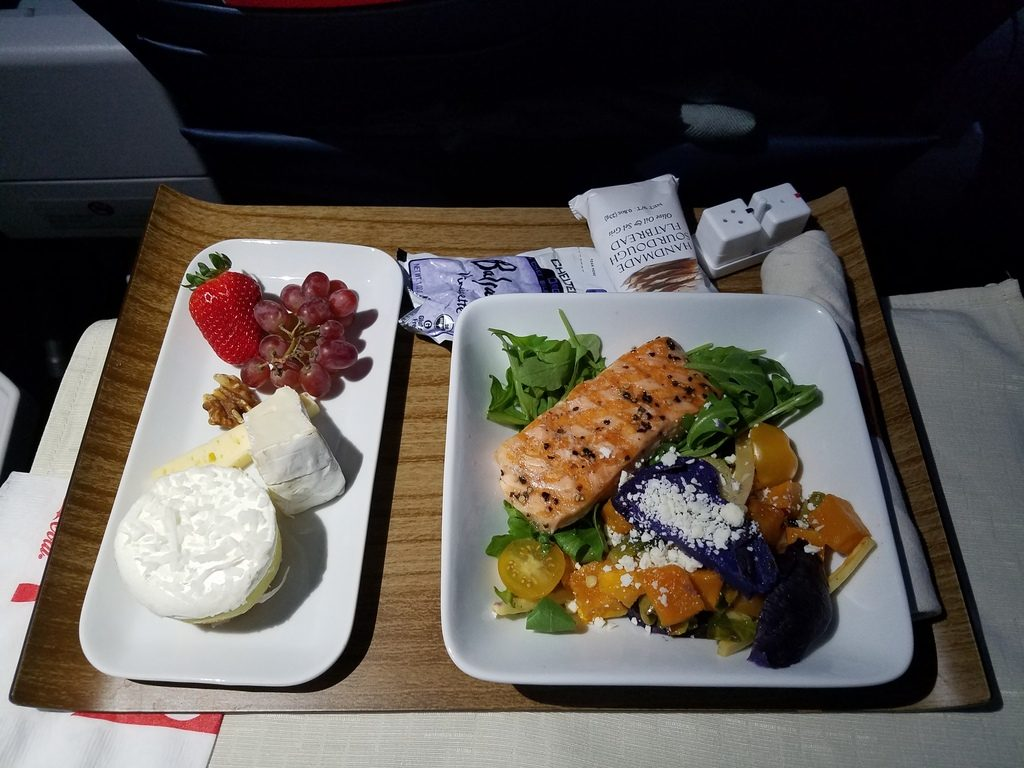 Delta Air Lines Airbus A319-100 First Class In-Flight Food Menu Options
