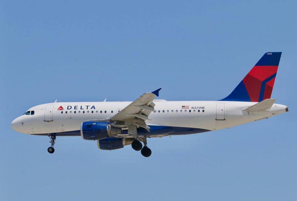 Delta Air Lines Airbus A319-100 N325NB arriving from MSP into SJC