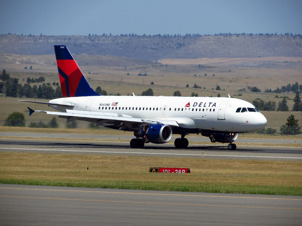 Delta Air Lines Airbus A319-100 N342NB Billings Logan International Airport