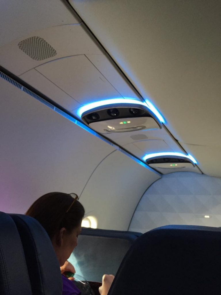 Delta Air Lines Airbus A320-200 Overhead Lights Panels Photos