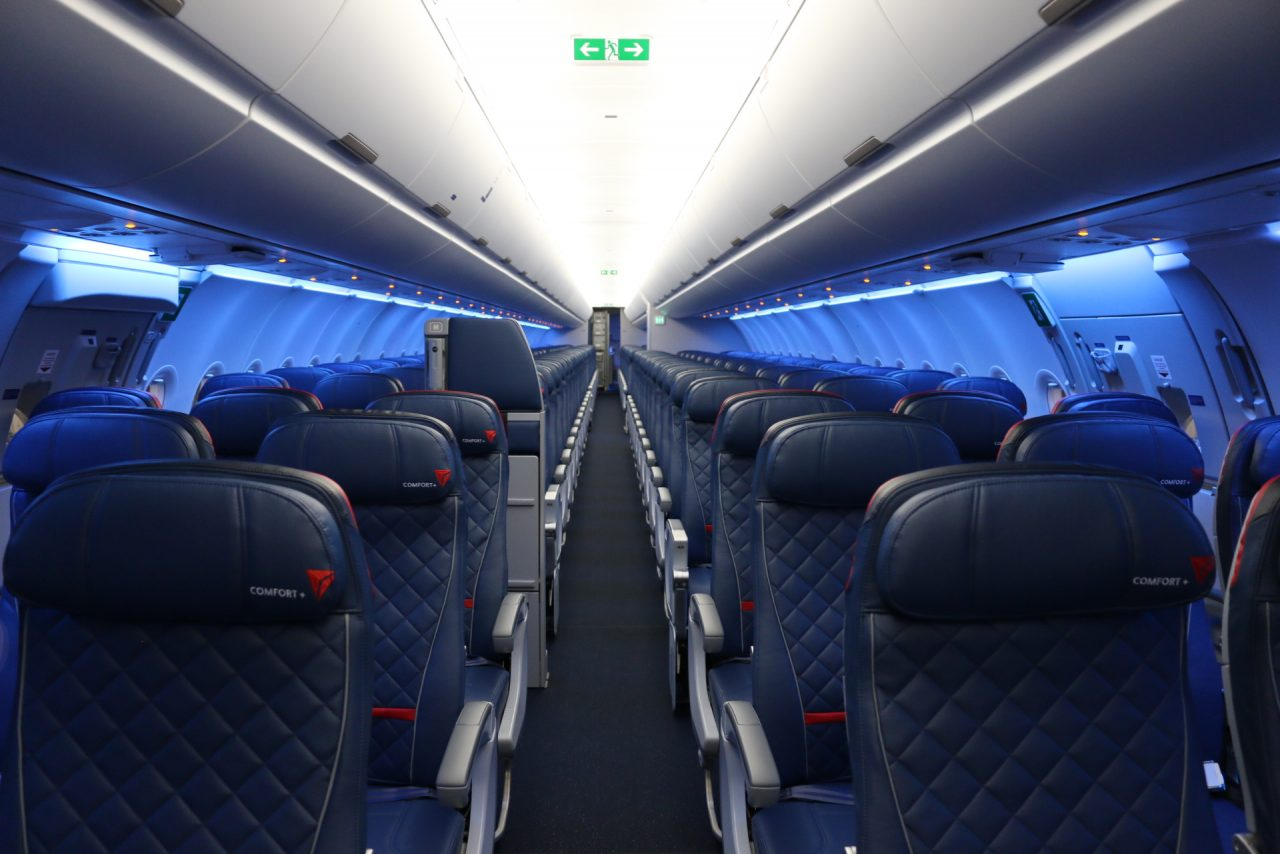 Delta Air Lines Airbus A321-200 Economy Comfort+ Cabin Seats Photos