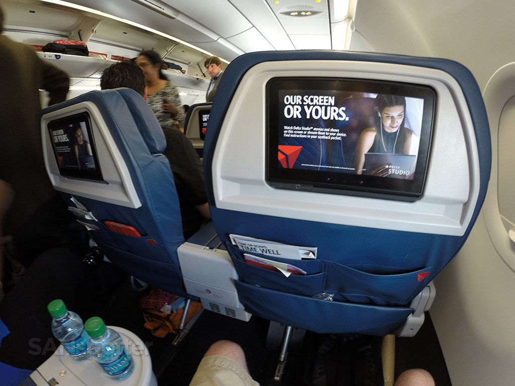 Delta Air Lines Airbus A321-200 First Class Personal Video Screen photos @SANspotter