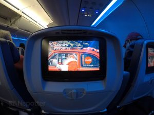 Delta Air Lines Airbus A321-200 Main Cabin Economy Class Seats back video screen photos @SANspotter