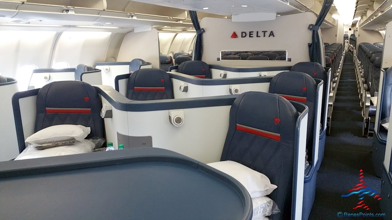 Delta Air Lines Airbus A330-200 Business Elite Class (Delta ONE) Cabin Interior Photos @RenesPoints.com
