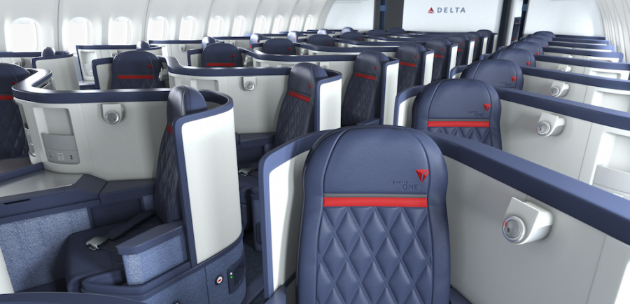 Delta Air Lines Airbus A330-200 Business Elite Class (Delta ONE) Seats Configuration Photos