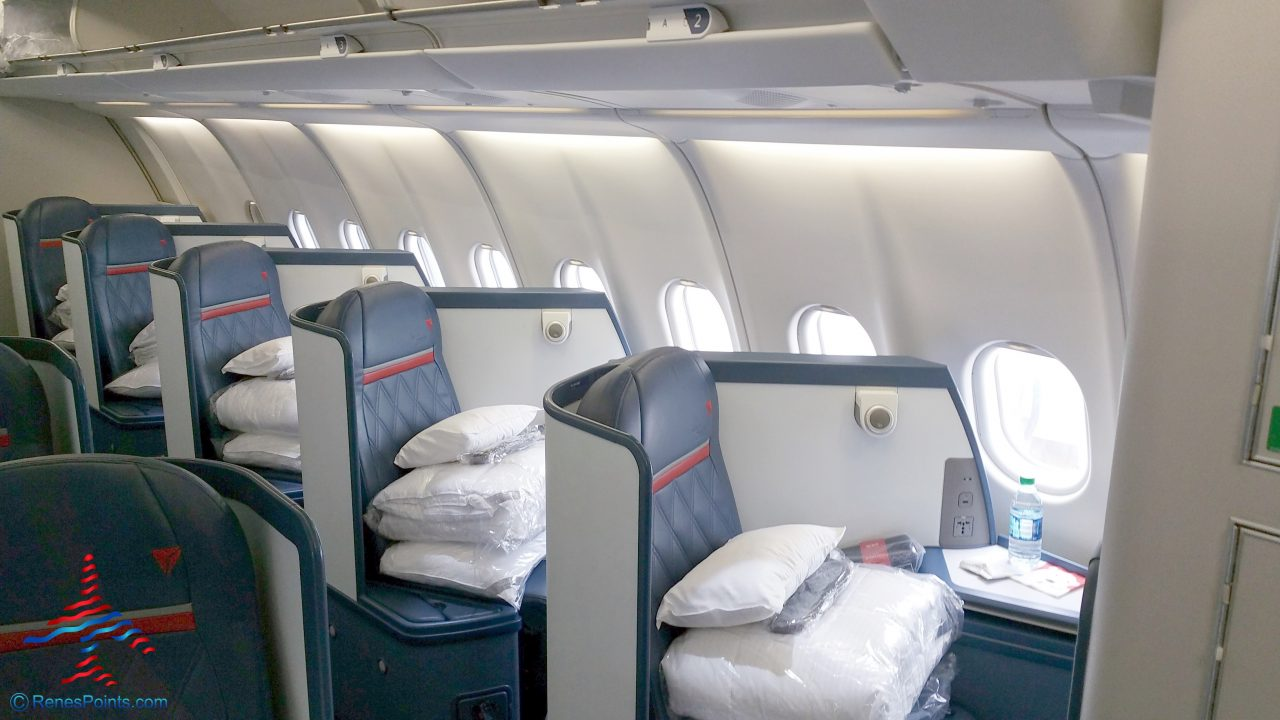 Delta Air Lines Airbus A330-200 Business Elite Class (Delta ONE) Window Seats Configuration @RenesPoints.com