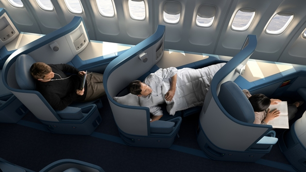 Delta Air Lines Airbus A330-200 Business Elite Class (Delta ONE) flat bed seats Photos