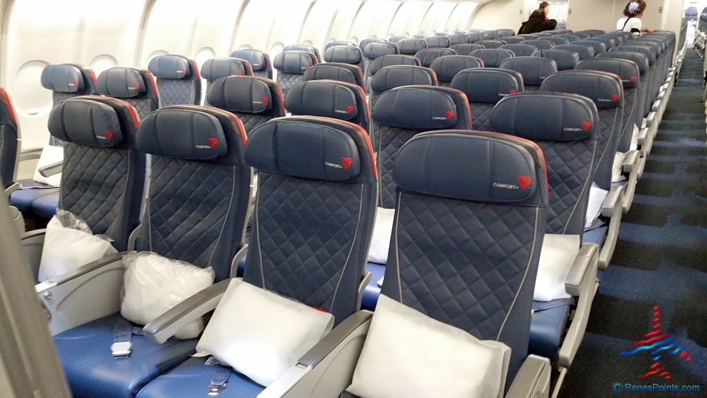 Delta Air Lines Airbus A330-200 Economy Comfort+ Cabin Seats Row Configuration @RenesPoints.com