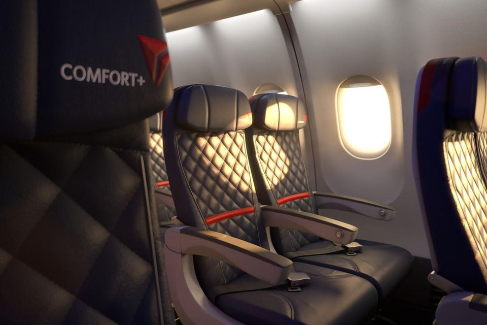 Delta Air Lines Airbus A330-200 Economy Comfort+ Seats Photos