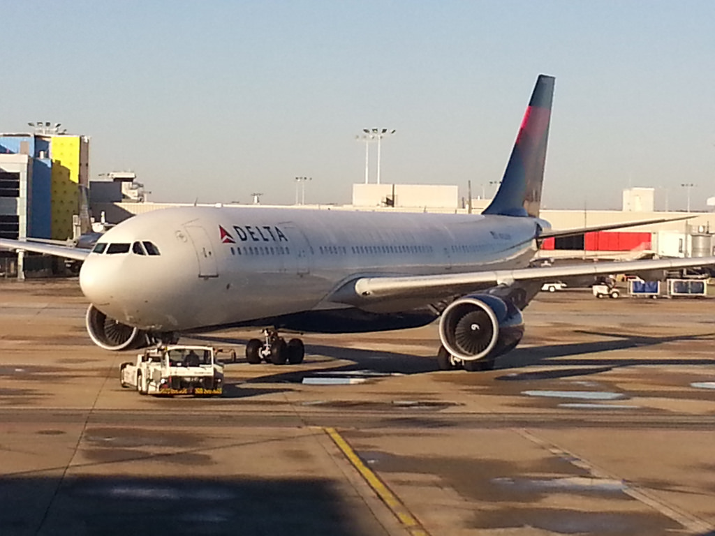 Delta Air Lines Airbus A330-200 N852NW Pushed Back by Super Tugs