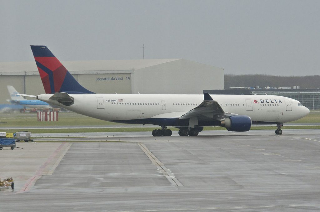 Delta Air Lines Airbus A330-200 N855NW at AMS Amsterdam Airport Schiphol