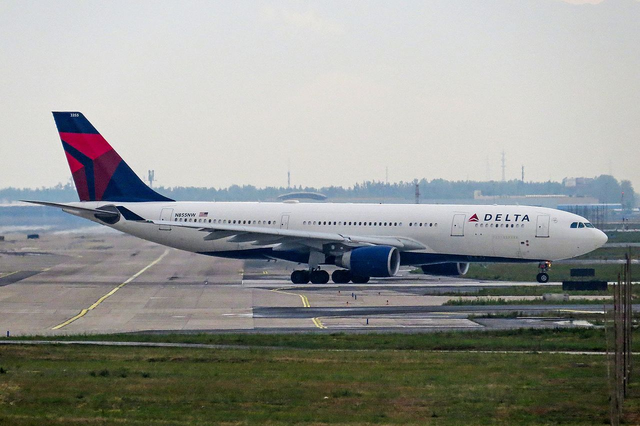 Delta Air Lines Airbus A330-200 N855NW at PEK Beijing Capital International Airport