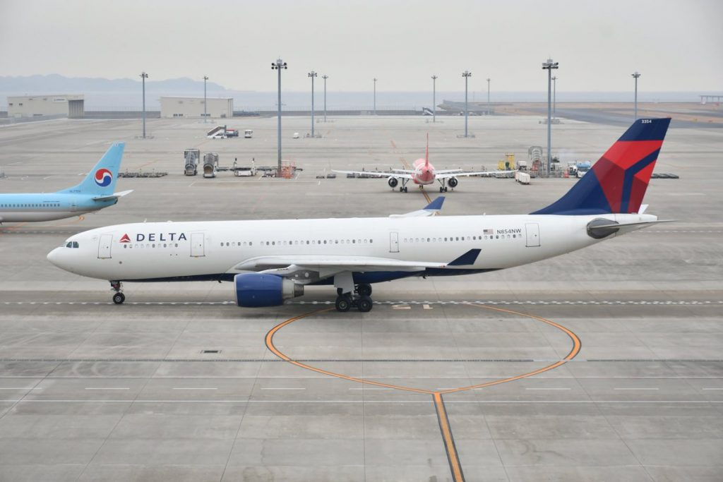 Delta Air Lines Airbus A330-223 N854NW DL095 DTW:NGO Detroit to Nagoya