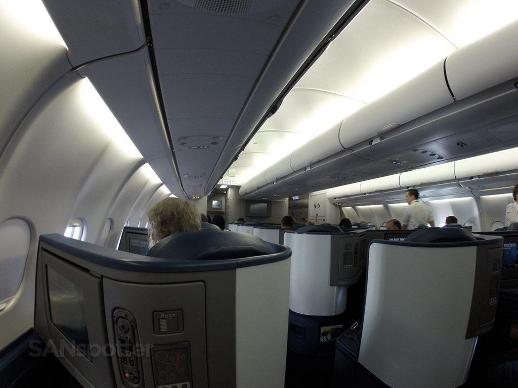 Delta Air Lines Airbus A330-300 Business Class Elite Delta one cabin photos @SANspotter