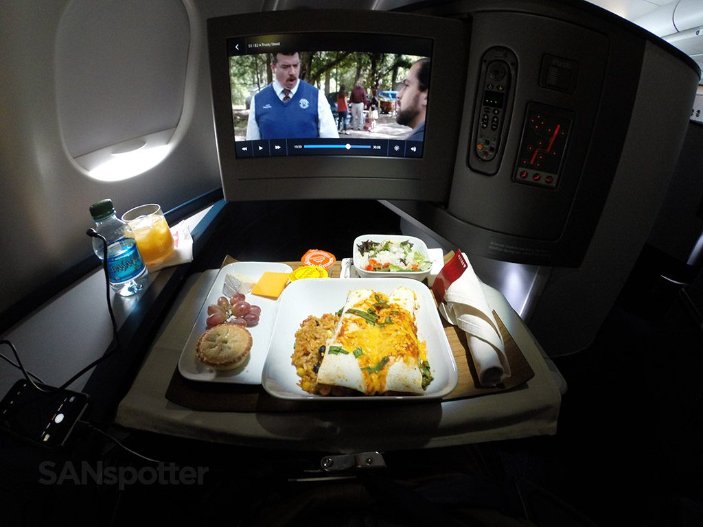 Delta Air Lines Airbus A330-300 Business Class Elite Delta one inflight dining experience @SANspotter