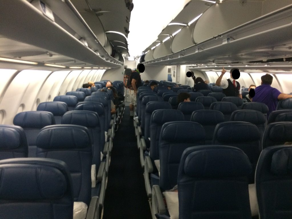 Delta Air Lines Airbus A330-300 Main cabin economy class seats layout photos