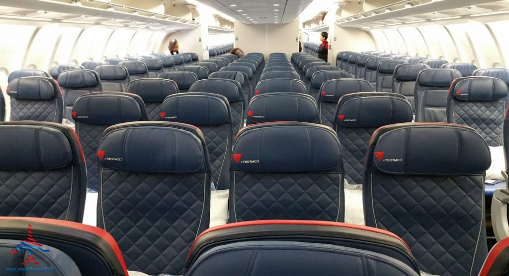 Delta Air Lines Airbus A330-300 Premium Economy (Comfort+) Cabin Interior Seats Layout Photos