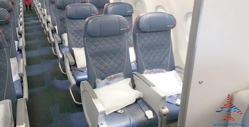 Delta Air Lines Airbus A330-300 Premium Economy (Comfort+) Seats Row Photos