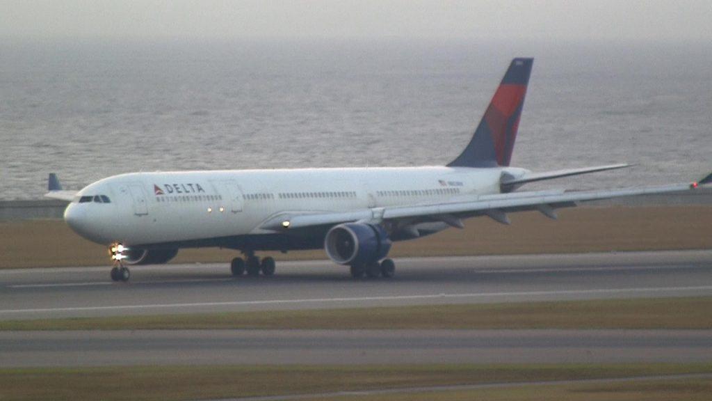 Delta Air Lines Airbus A330-323X N803NW Landing at Nagoya