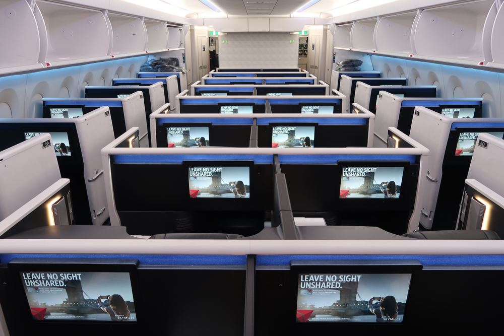 Delta Air Lines Airbus A350-900 Business Elite Class (Delta One) Full Cabin View Photos