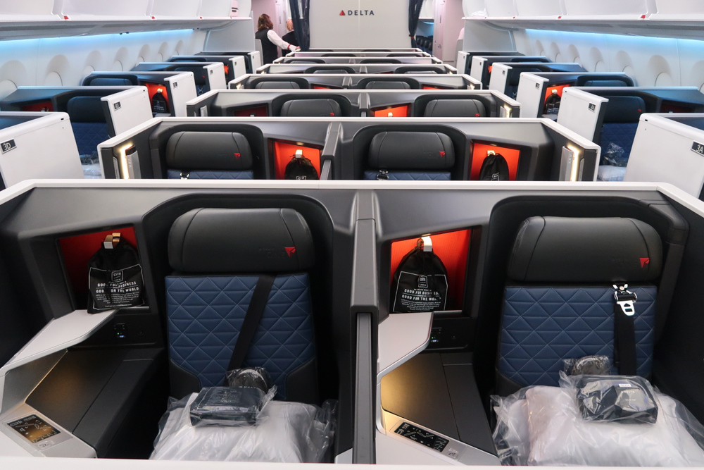 Delta Air Lines Airbus A350-900 Business Elite (Delta One) Cabin Interior Photos