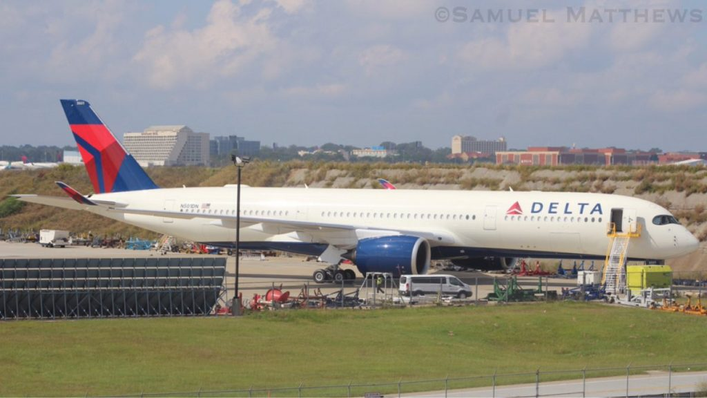 Delta Air Lines Airbus A350-900 N501DN on the TOC ramp at KATL Hartsfield–Jackson Atlanta International Airport @Samuel Matthews