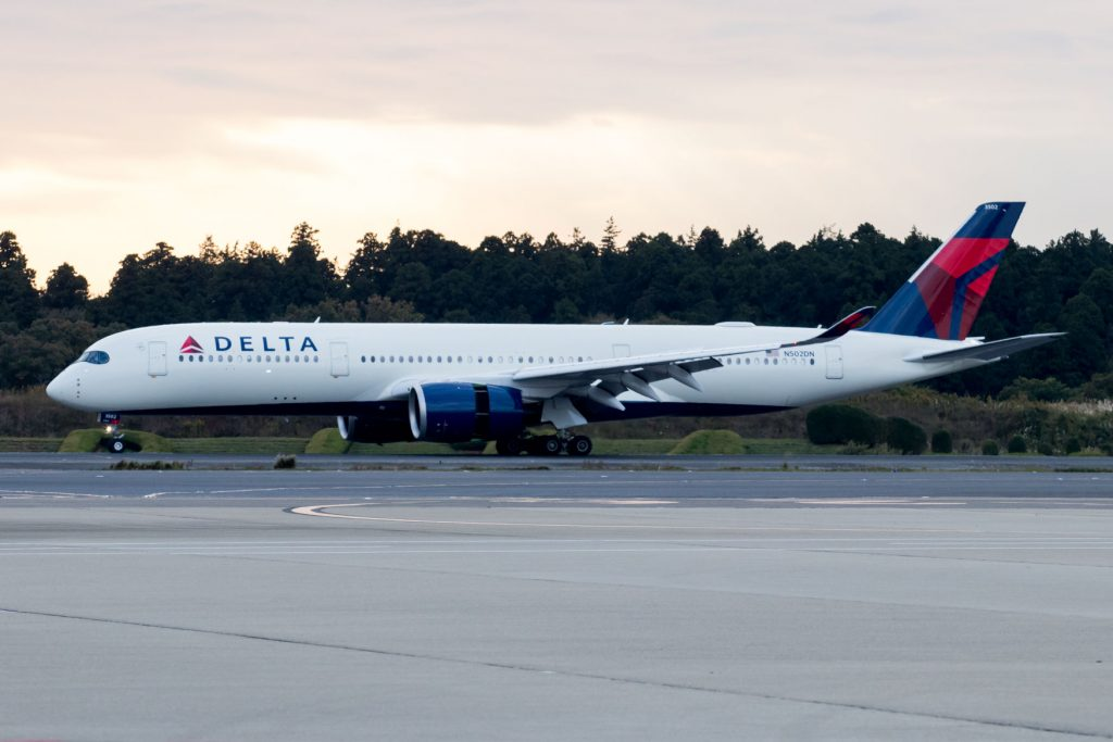 Delta Air Lines Airbus A350-900 N502DN Landing in Tokyo for the First Time