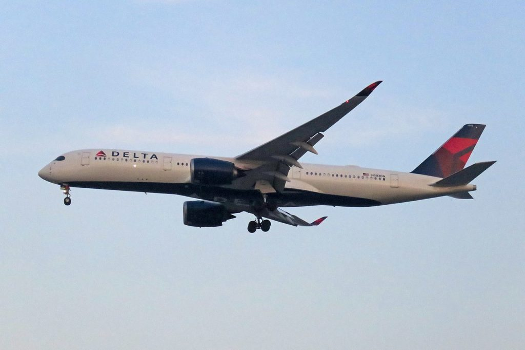 Delta Air Lines Airbus A350-900 N503DN from Detroit Landing @PEK Beijing Capital International Airport
