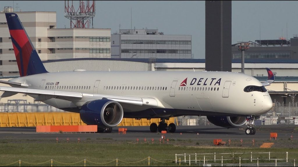 Delta Air Lines Airbus A350-900 N504DN Takeoff from NRT 16R Narita International Airport