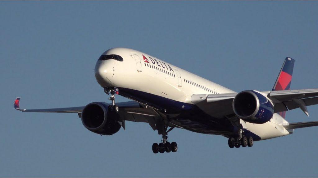 Delta Air Lines Airbus A350-900 N505DN Landing at NRT 34L Narita International Airport
