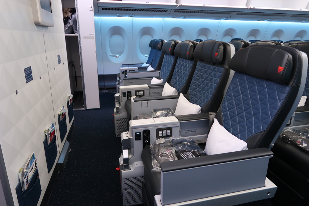 Delta Air Lines Airbus A350-900 Premium Select Cabin Seats 2-4-2 Layout photos