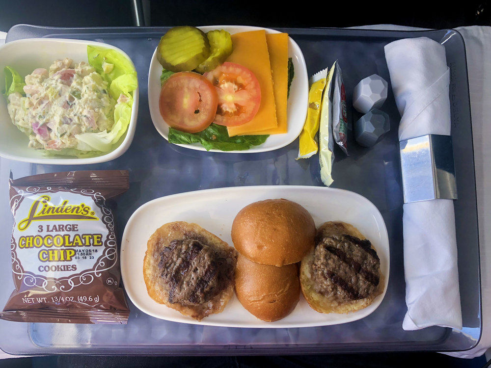 Delta Air Lines Boeing 717-200 First Class Inflight Amenities Food Photos