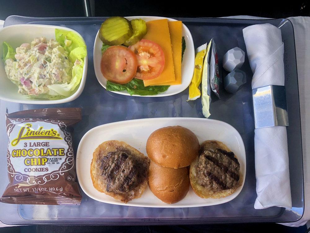 Delta Air Lines Boeing 717-200 First Class Inflight Amenities Food Photos