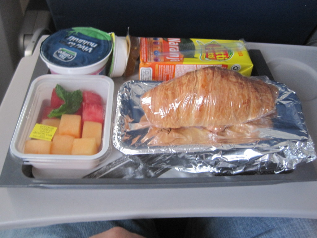 Delta Air Lines Boeing 737-700 Economy Class Inflight Amenities Food Services Photos