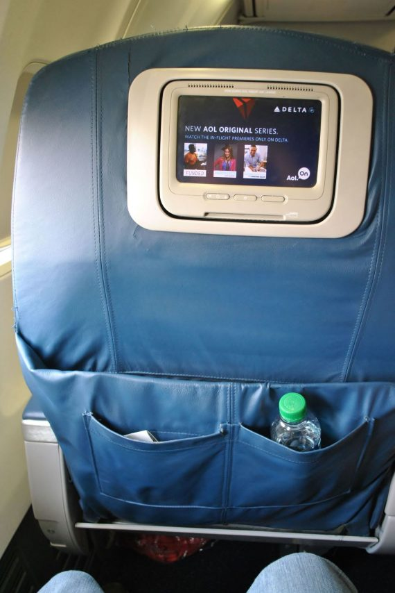 Delta Air Lines Boeing 737-700 First Class IFE Screen Videos Seats Photos