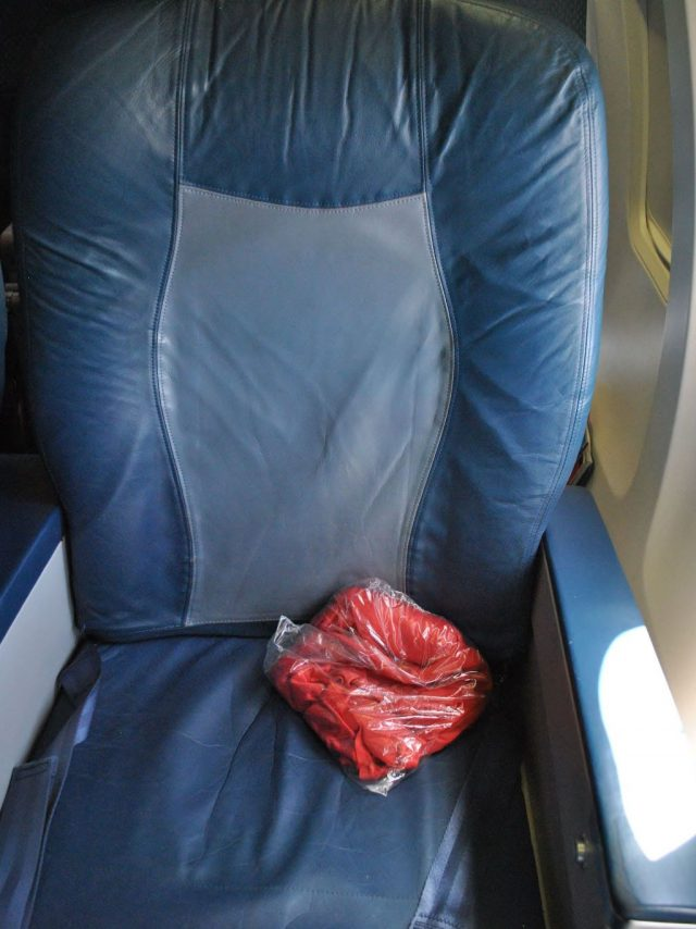Delta Air Lines Boeing 737-700 First Class Recliner Seats Photos