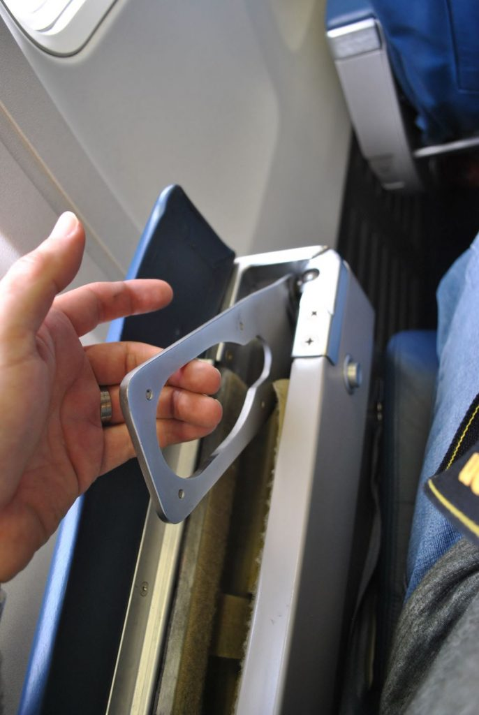 Delta Air Lines Boeing 737-700 First Class Tray table Photos