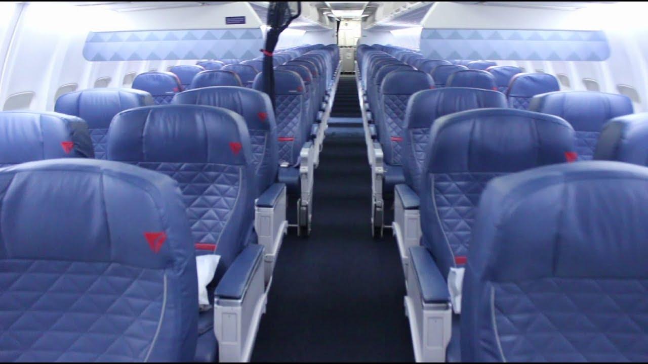 Delta Air Lines Boeing 737-700 Premium Economy (Comfort+) Cabin Seats Interior Photos