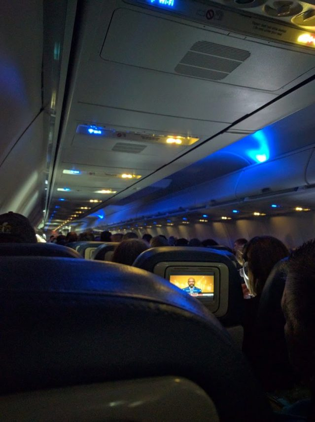 Delta Air Lines Boeing 737-800 Main Cabin Economy Class Mood Lightning Photos