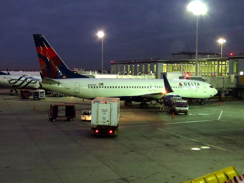 Delta Air Lines Boeing 737-800 N3742C Passenger Boarding Gate at John F. Kennedy International Airport