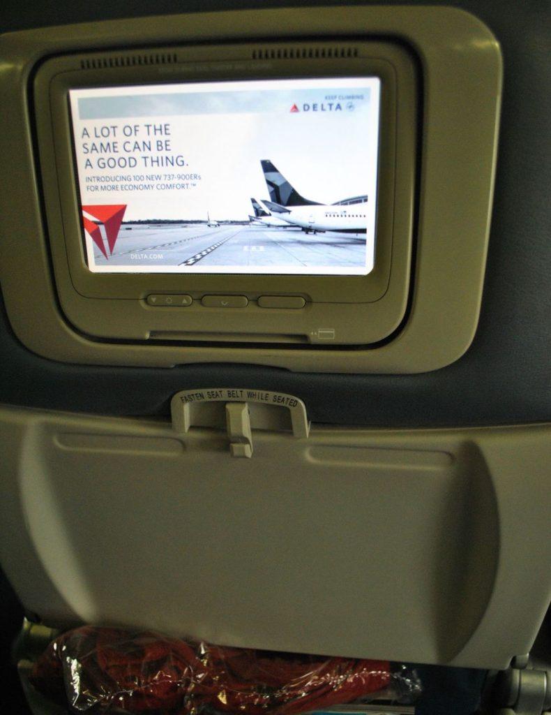 Delta Air Lines Boeing 737-800 Premium Economy (Comfort+) Seats IFE Photos