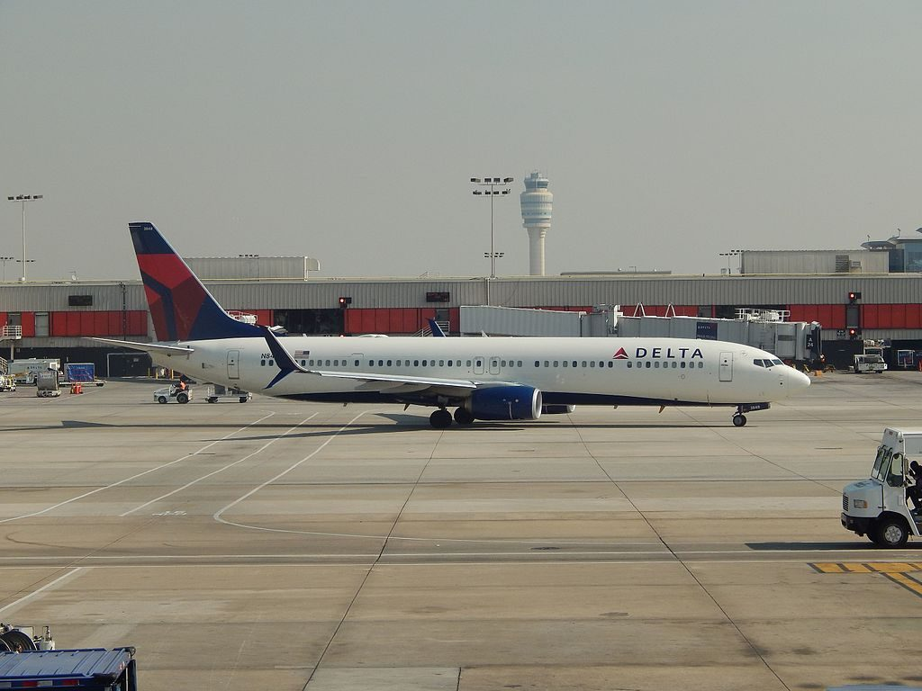 Delta Air Lines Boeing 737-900 N848DN with scimitar winglets at ATL Atlanta International Airport