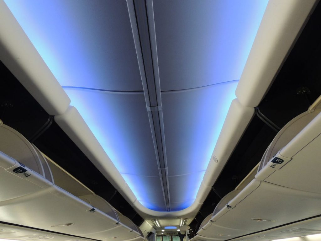 Delta Air Lines Boeing 737-900ER Main Cabin Economy Class Extra fancy SkyInterior LED Light Photos